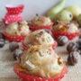 Muffins con pere, gorgonzola e noci senza glutine