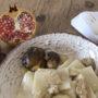 Mezze maniche con porcini e melagrana