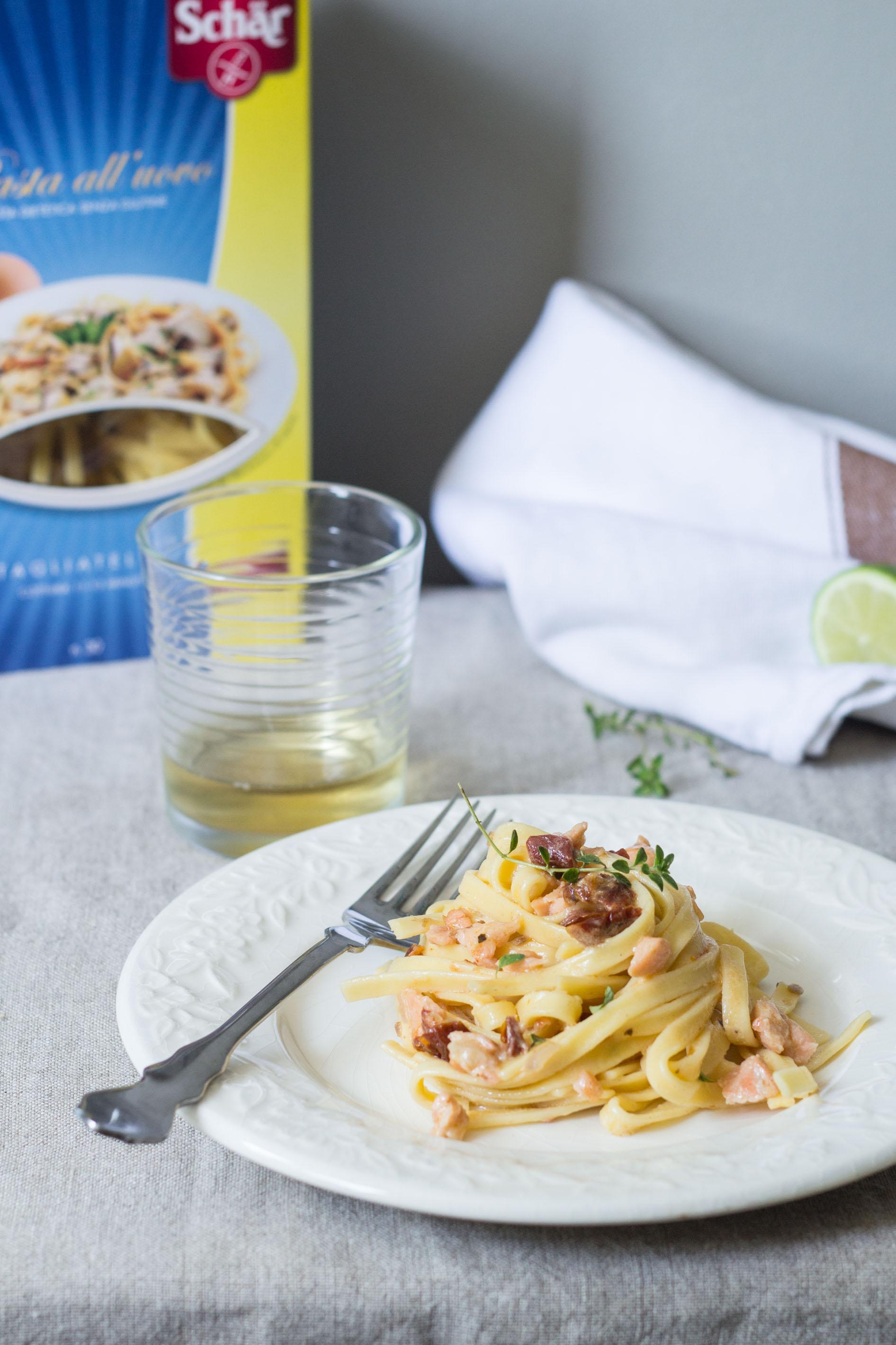 Tagliatelle Schär al salmone - Gluten Free Travel and Living
