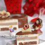 Torta San Valentino al cioccolato bianco, caramello e cioccolato fondente