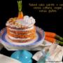 Naked cake carote e cocco senza cottura, vegan e senza glutine