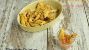 Bastoncini di pollo al sesamo con salsa agrodolce