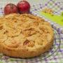 Torta di mele e nocciole con farina di ceci