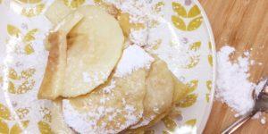Torta di mele invisibile