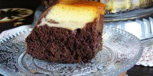 Torta impossibile senza glutine e senza latticini