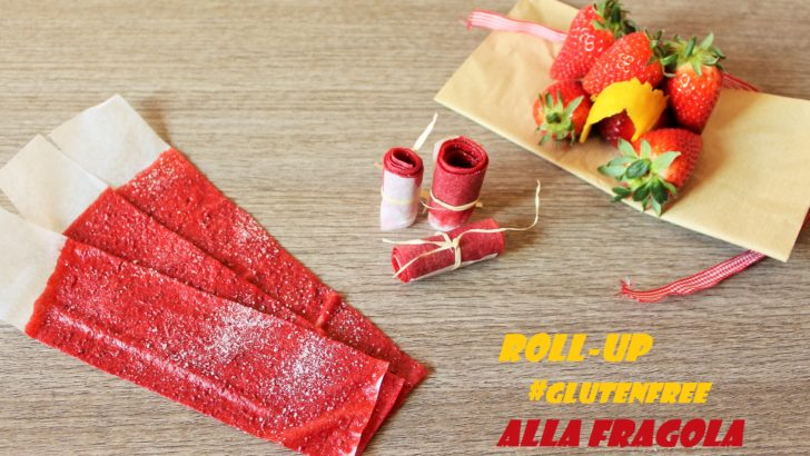 Merenda senza glutine: Roll-up alla fragola