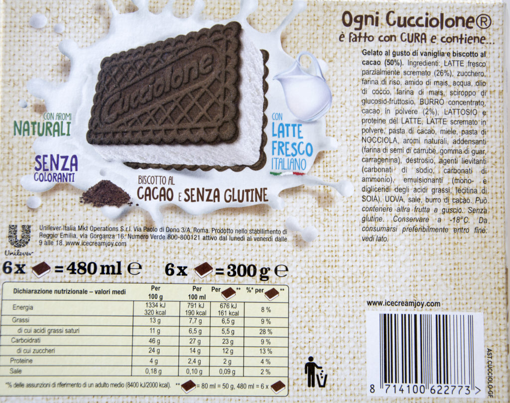 Algida senza glutine -Gluten Free Travel and Living