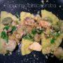 Ravioli al Pesce spada con Asparagi e Fave