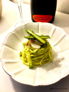 spaghetti pesto asparagi e capesante - Gluten Free Travel and Living
