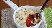 Gratin di riso e verdure senza glutine