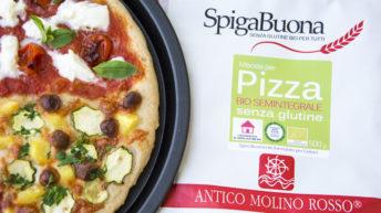 Pizza senza glutine con farina semintegrale Molino Rosso