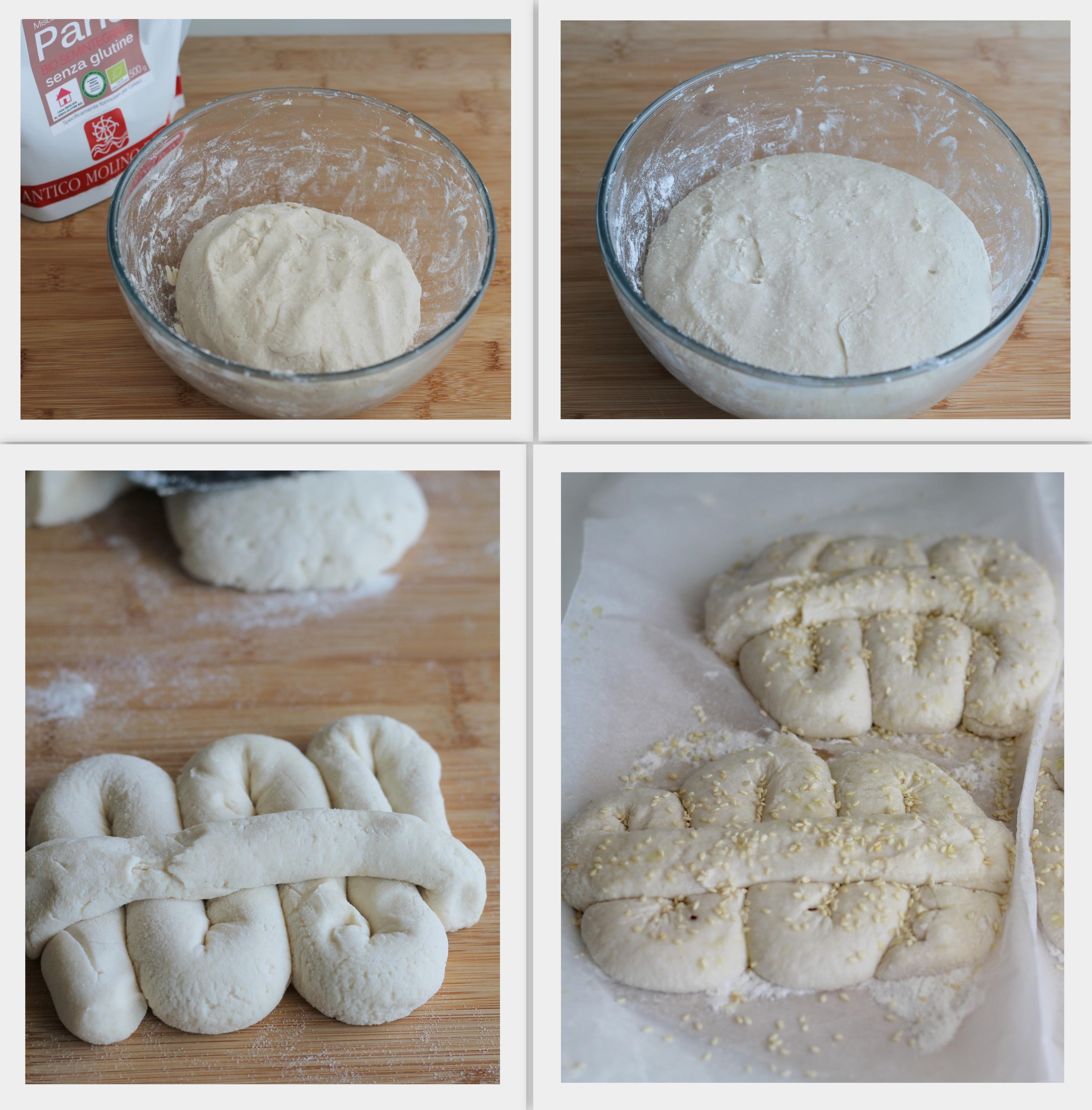 Preparazione della mafalda senza glutine con farina semintegrale Molino Rosso - Gluten Free Travel and Living