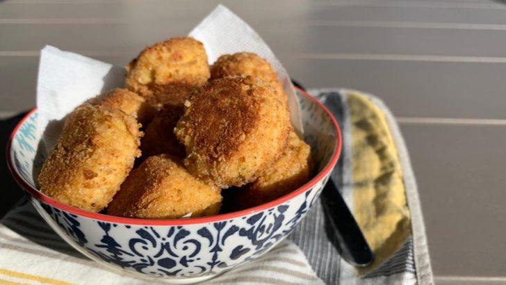 Polpette di ceci con fette biscottate senza glutine